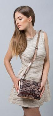 We Positive Damenhandtasche aus echtem italienischem Leder - bei Creativa style & fashion erhältlich